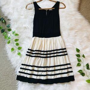 BeBop Black and cream dress